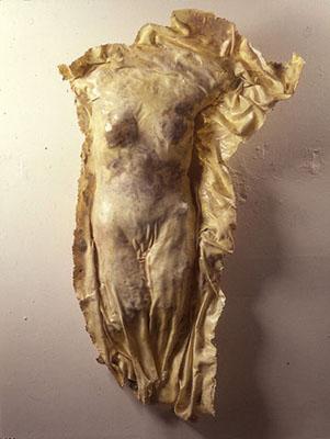 """Sun Body,"" 1995 Resin 68 x 40 x 11 inches"