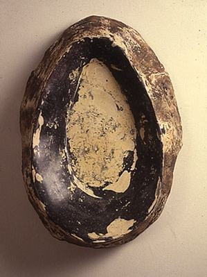 """""""Yoke (Inside / Out),"""" 1990 Mixed media 30 x 19 x 9 inches"""