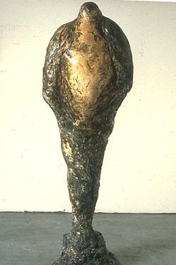 """""""Horus,"""" 1989 Mixed media 66 x 25 x 10 inches"""