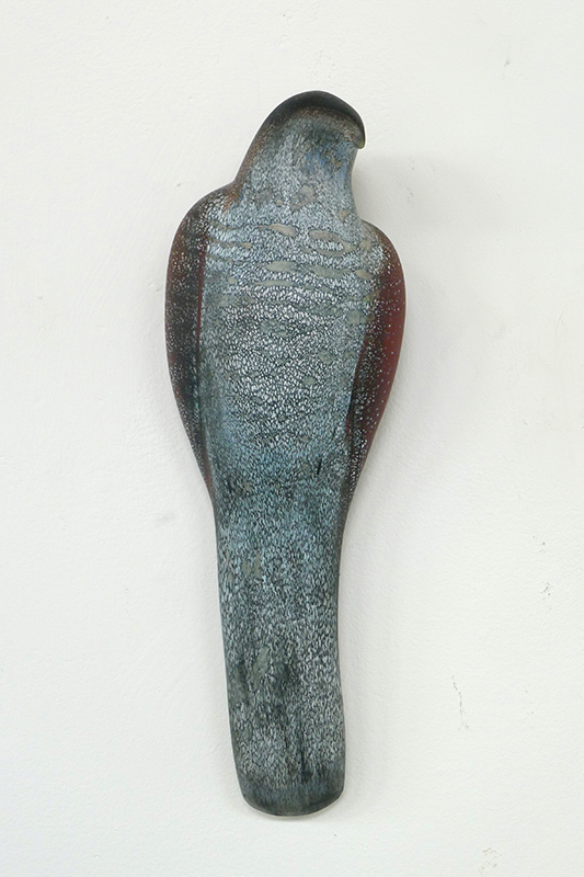 """Picasso Wall Bird,"" 2015 Hand blown pigmented glass 13 x 5 x 3.5 inches"