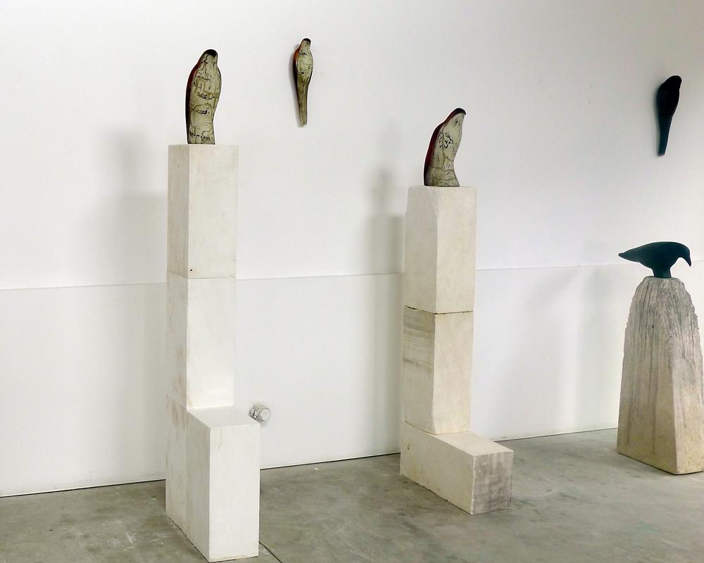 Studio Installation with Brancusi Birds, 2013