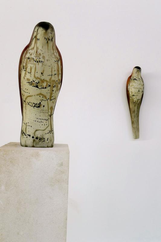 """Brancusi Morse Code"" and ""Brancusi Wall Bird"" 2013 Studio Installation"