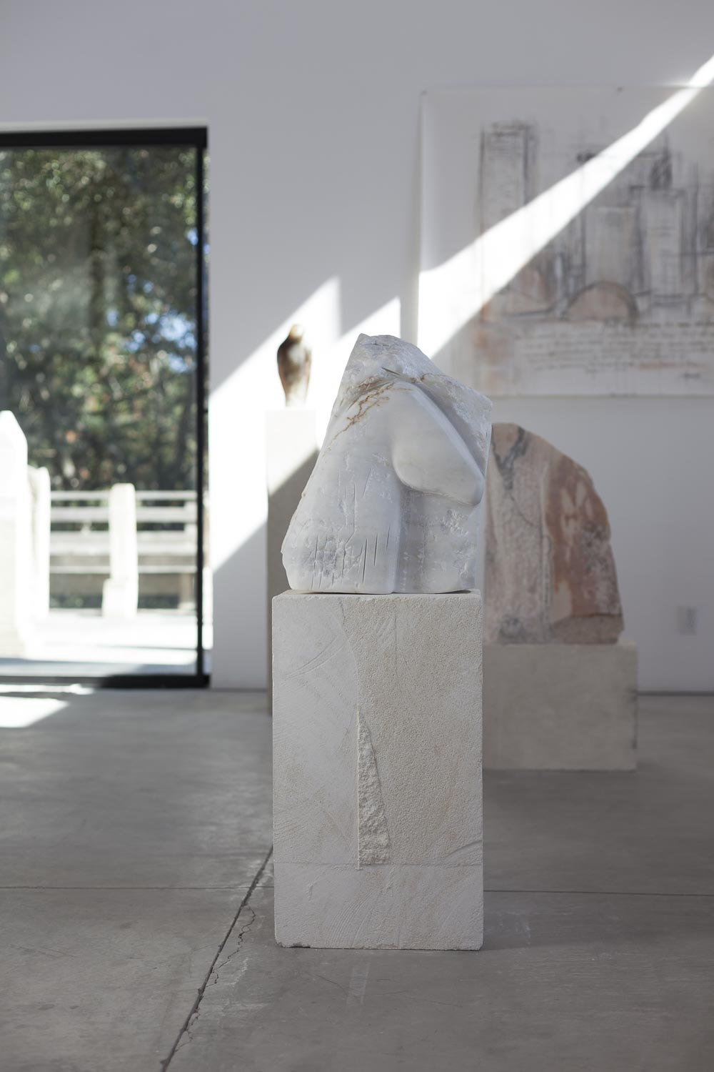 """""""Horse Relief,"""" 2017   White marble and limestone   43 x 14 x 10 inches"""