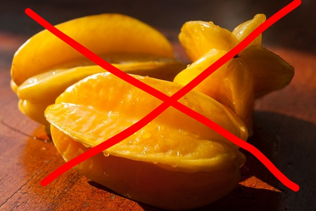 If you have kidney disease or kidney damage, DO NOT eat star fruit!