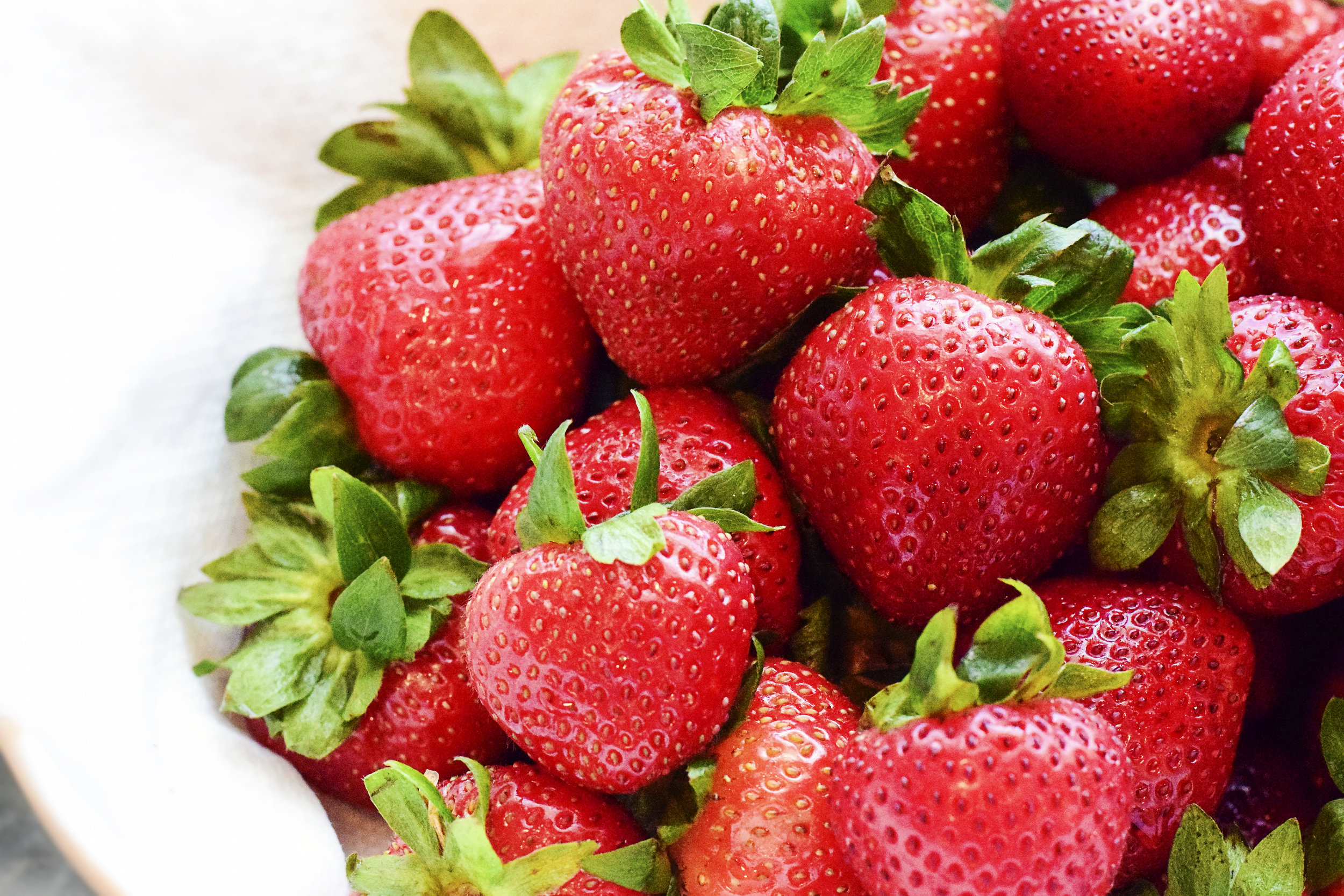 Strawberries are an excellent source of fiber, vitamin C, but are lower in potassium!