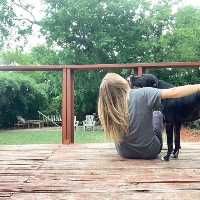 Summertime kisses 😘 . Sometimes doing nothing is exactly what you need to do. . Simple afternoons on the deck enjoying the summer warmth (and humidity) and kisses from my girl Marlowe. . I hope y'all are taking some time to just BE today... it feels so good to let the hours pass without tasks and to-do's. . . . . . . #radiantandabundantlife #happiness #patiotime #outside #getoutside #dogs #dogsofinstagram #muttsofinstagram #austinpetsalive #agirlsbestfriend #summertime #texas #austin #atx #selfcare #selfcaresunday #holistichealth #holistichealthcoach #iin #iinalumni #onlinenutritioncoach