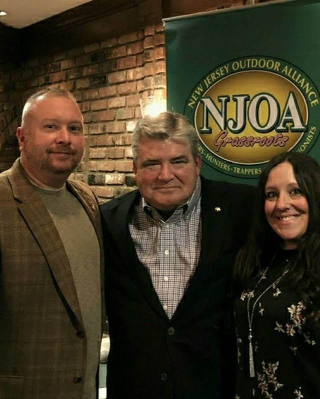 Showing our #support for #hunting #fishing #trapping and the #conservation of our #naturalresources in #newjersey at the 3rd Annual NJOA Wild Game Dinner. #dawnjosh2018
