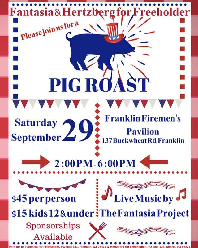 Join us for a Pig Roast! Saturday, September 29th 🐷 🍴 For more information visit us online at: DawnandJoshforfreeholder.com #dawnjosh2018 #voterepublican #freeholder #sussexcountynj #pigroast