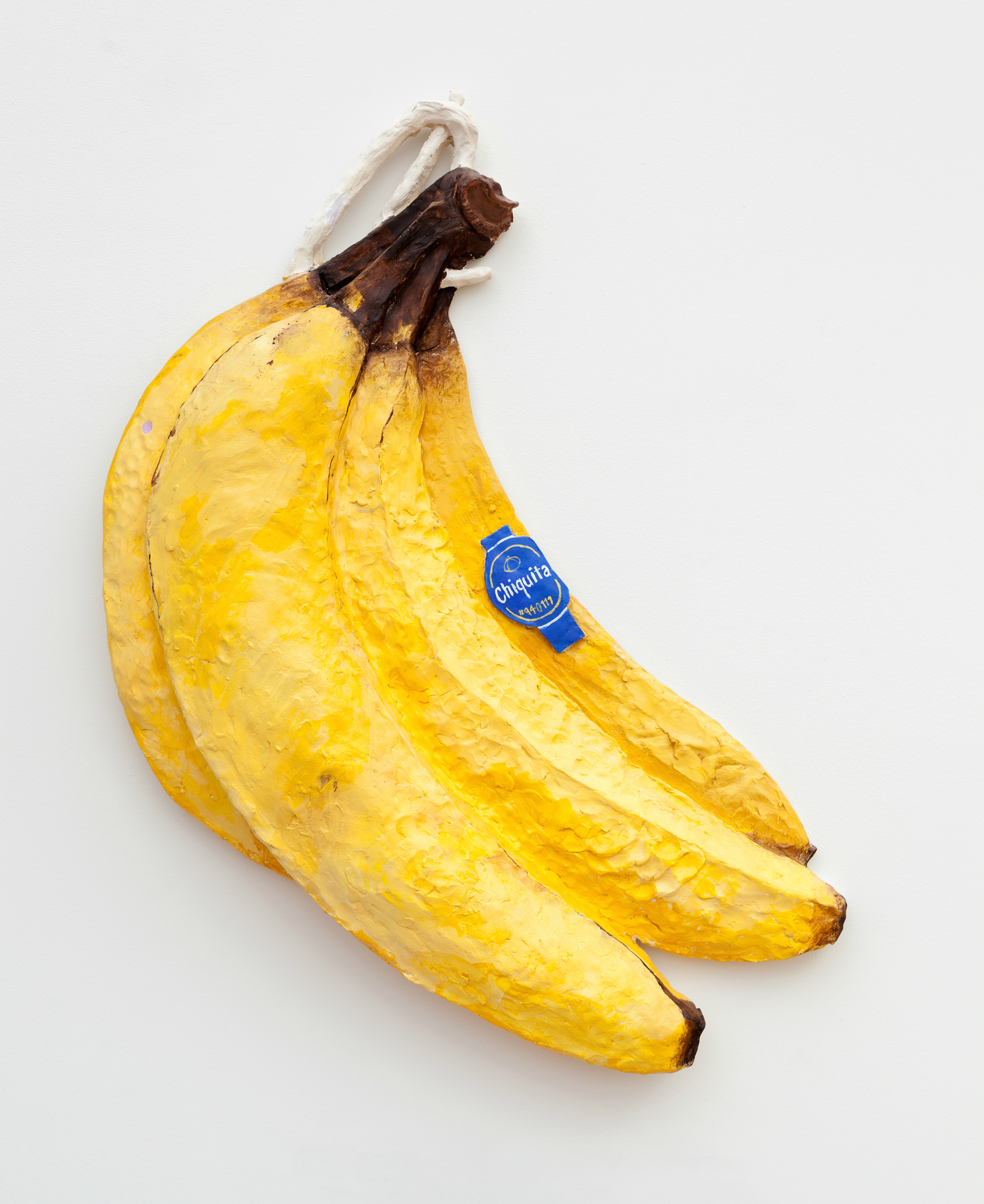 "Darling, Take a Banana...Take TWO Bananas! (for Grandma Belle)   25"" x 22"" x 4"" / Ceramic, acrylic / 2015"
