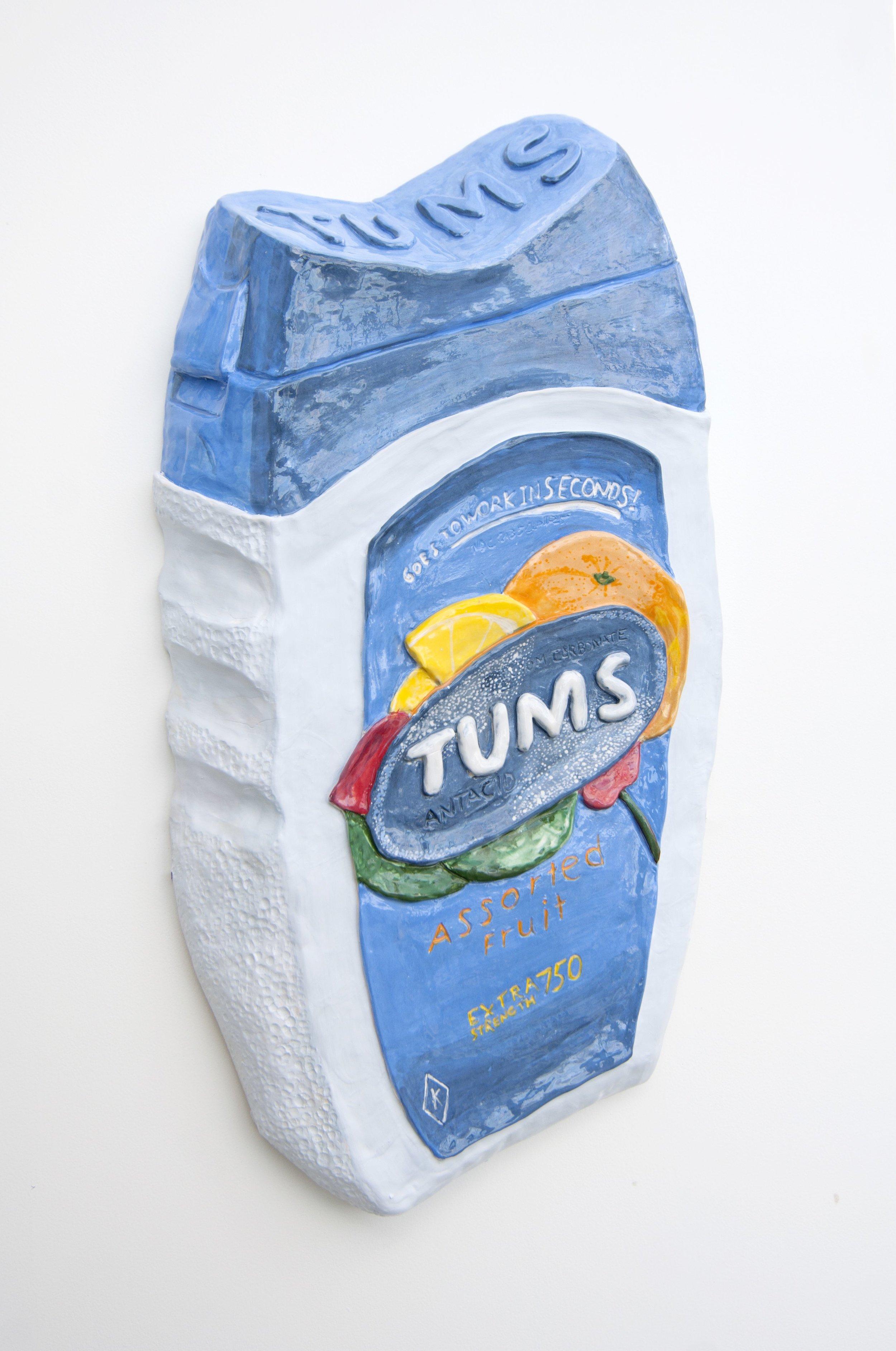"""Tum, Tum, Tum, Tum, Tum   25"""" x 13"""" x 4"""" / Ceramic / 2016"""