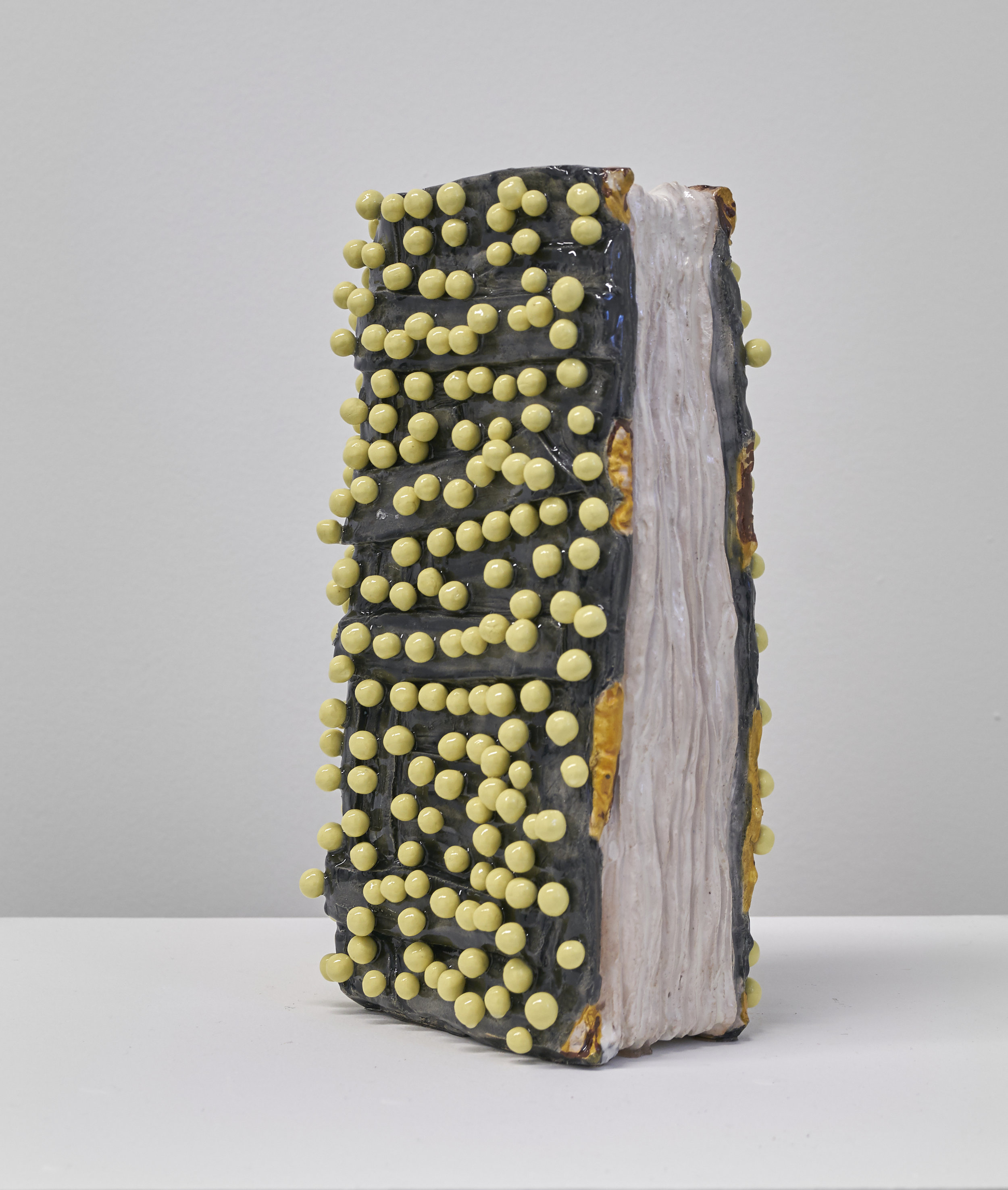 """Untitled   11"""" x 5"""" x 4"""" / Stoneware, Porcelain, Resin / 2018   Collaboration with Athena Witscher"""