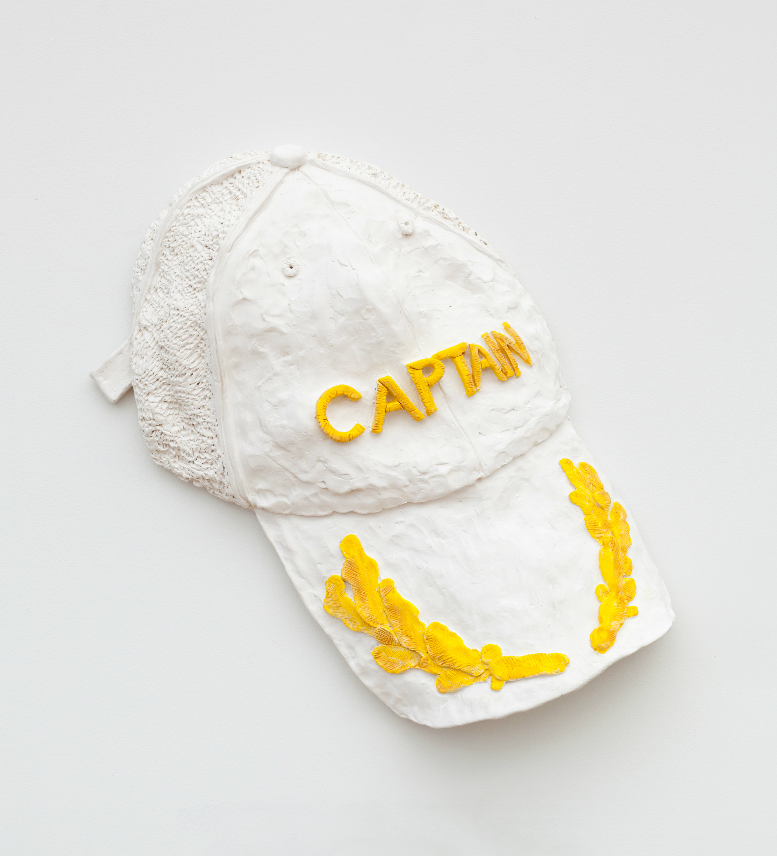 "Did you let your father buy that Captain's hat?   17"" x 14"" x 2"" / Ceramic / 2015"