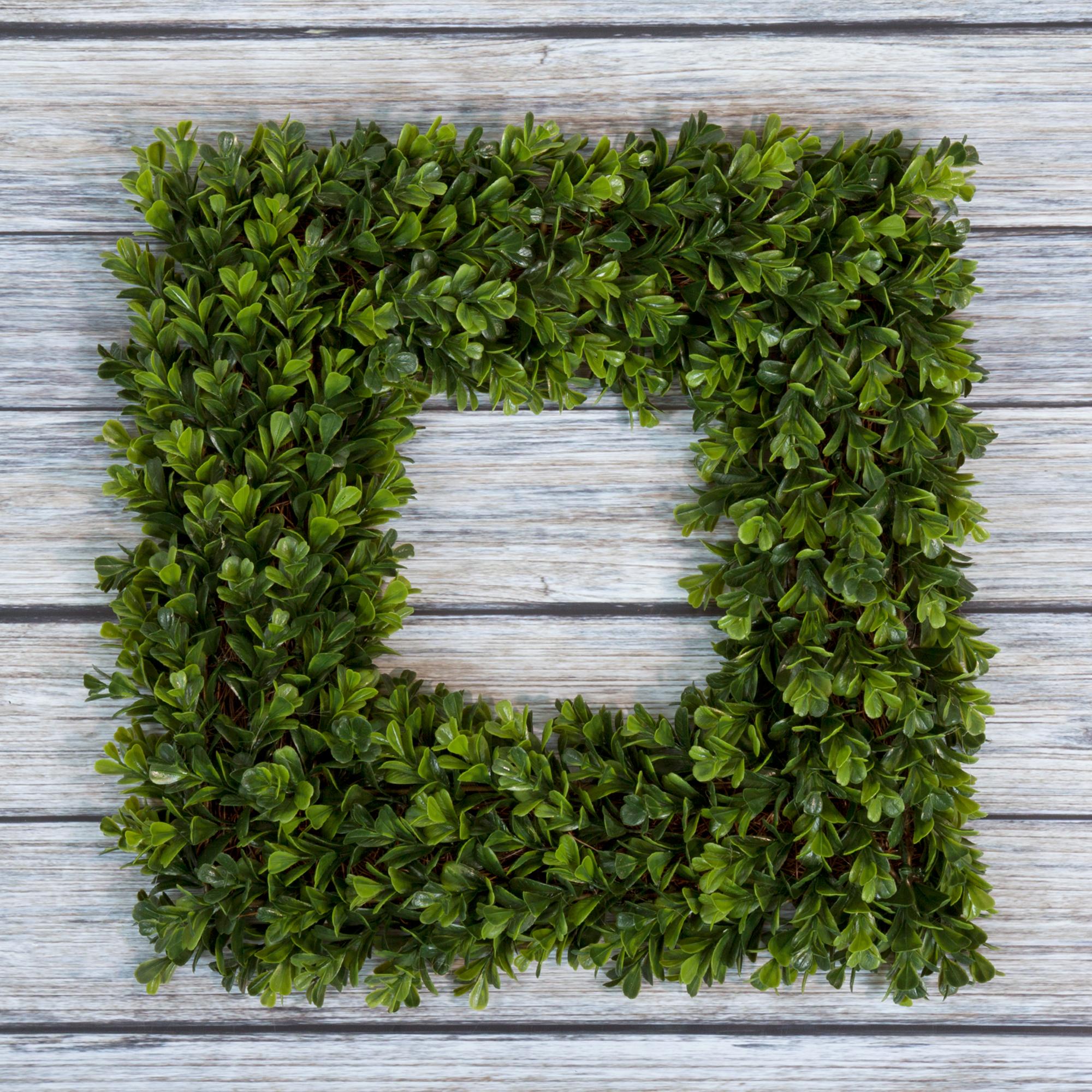 Square Boxwood Wreath