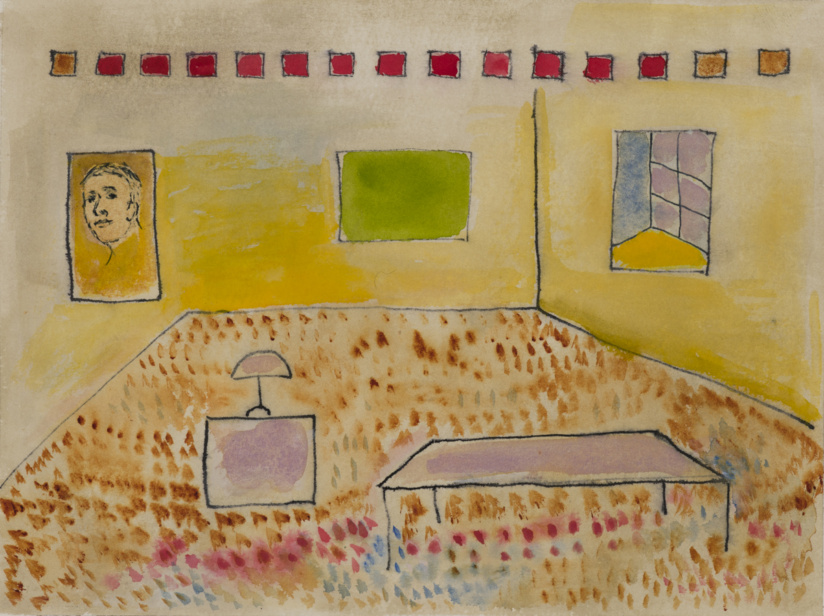 """#7 - 9"""" x 12"""" Watercolor and Gouache with Pen and Ink"""
