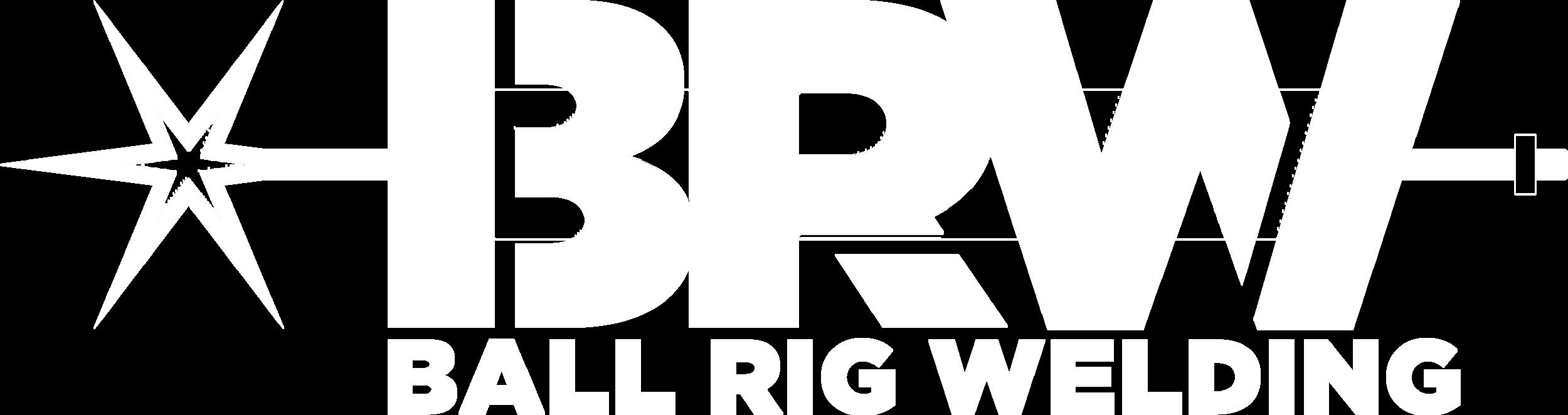 Ball Rig Welding Logo white