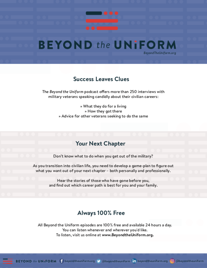 download beyond the uniform promotion flyer