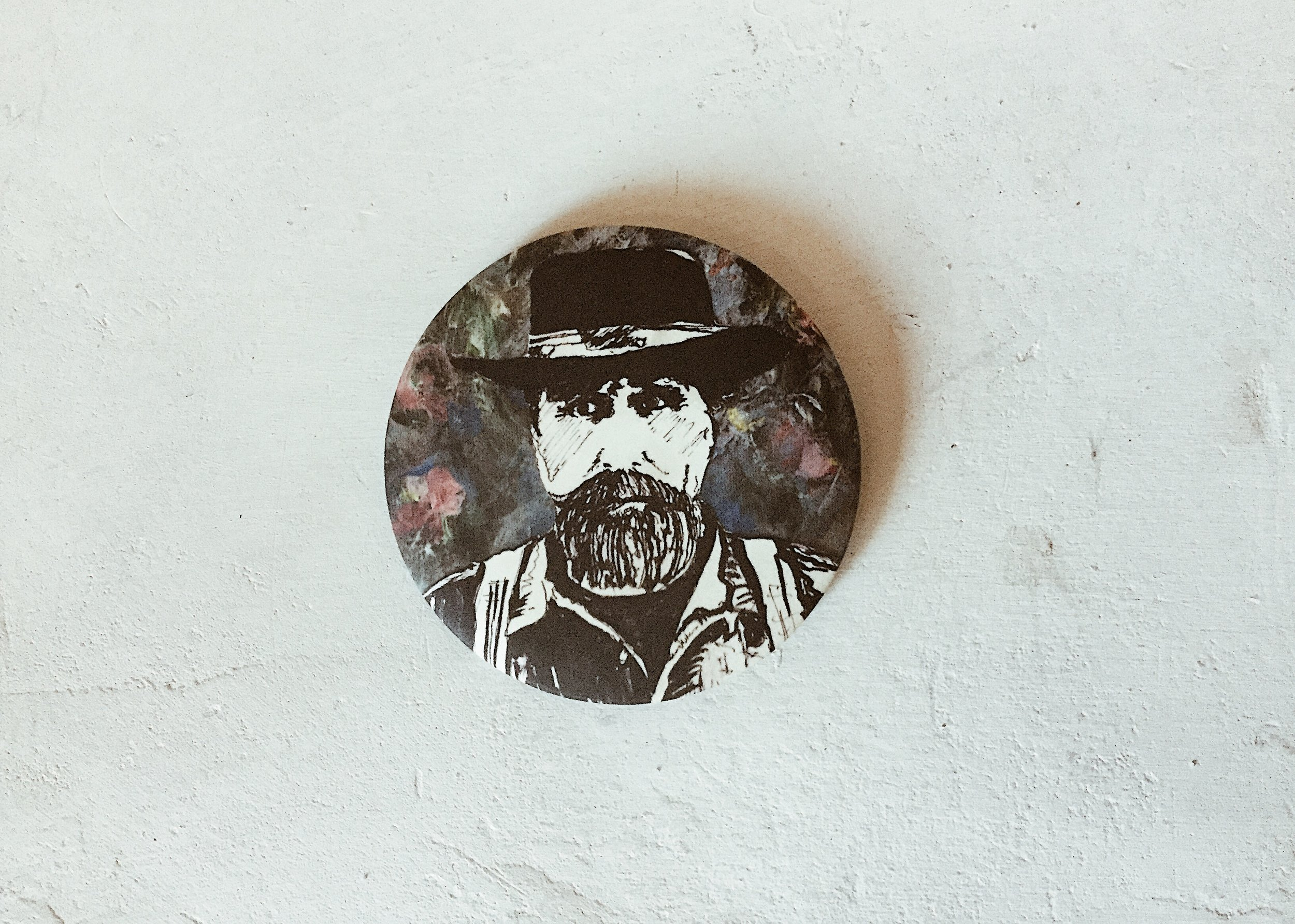 PINS & STICKERS - Artwork of Alie's Dad created by Alie's Mom