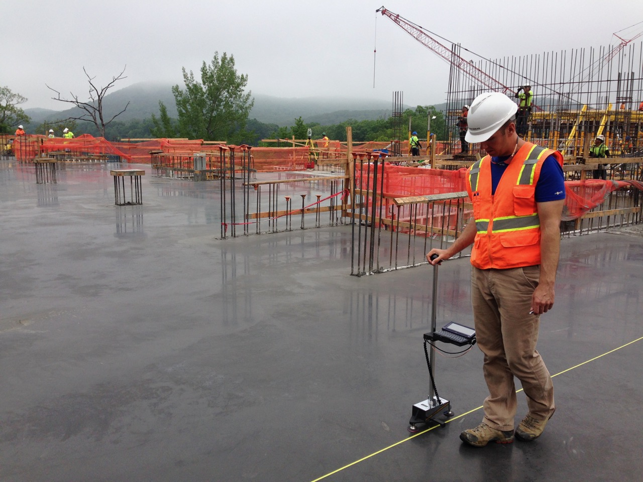 technician for construction materials testing and inspections