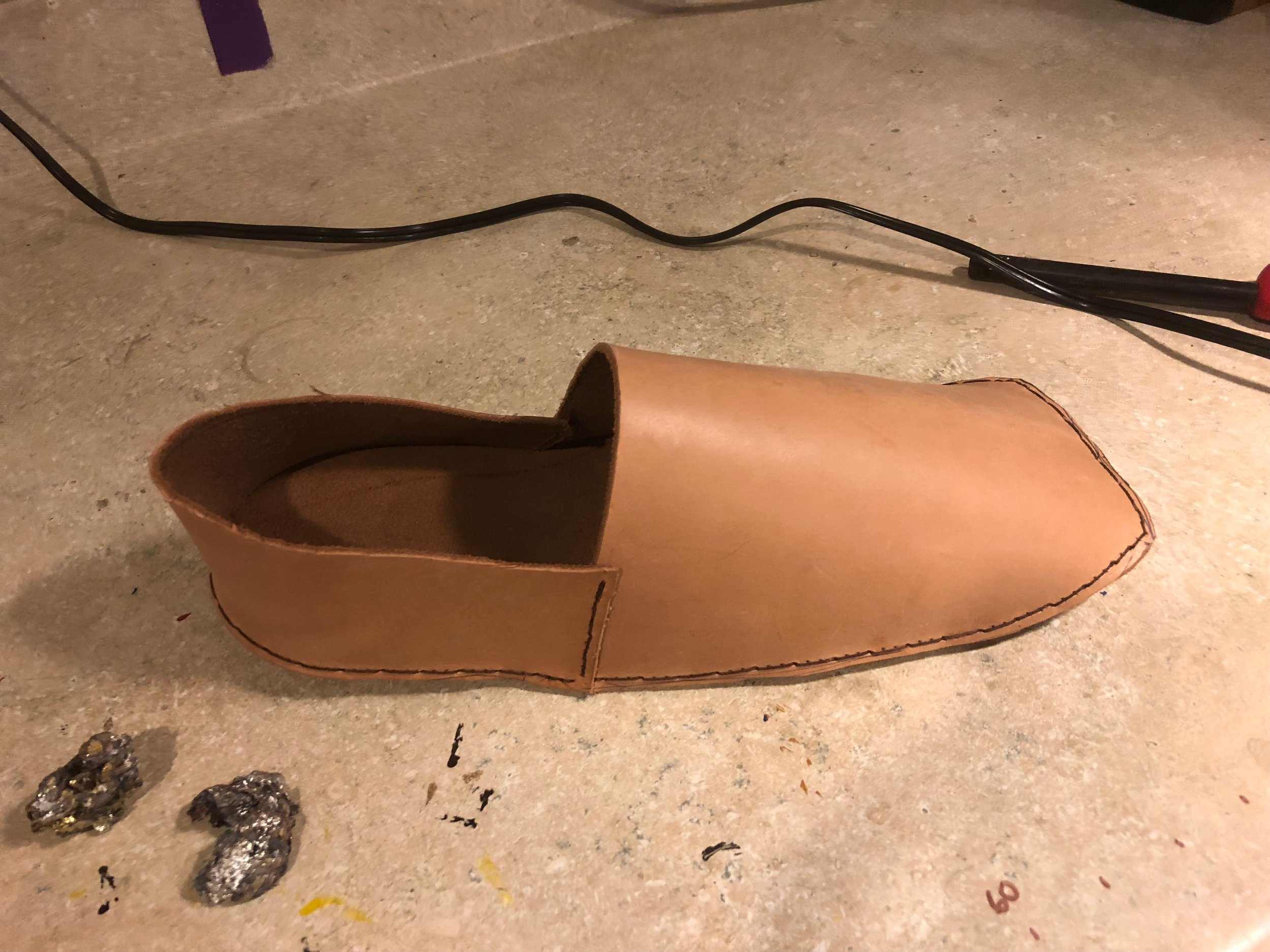 Leather German styled Shoes for the Revenge of the Stitch Garb Challenge