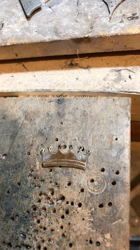 Crown cut from Gold sheet