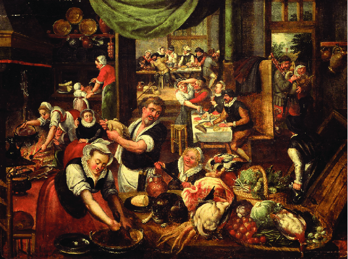 Maarten-van-Cleve-Kitchen-piece-panel-50-66-cm-signed-and-dated-on-the-back-of-the.png