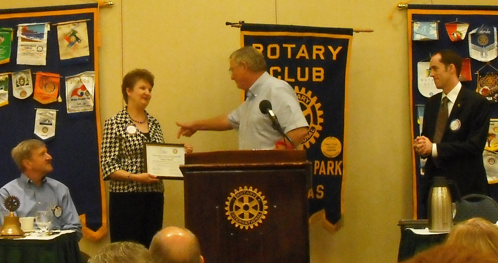 Janeé receiving the 2010 Rotary Award