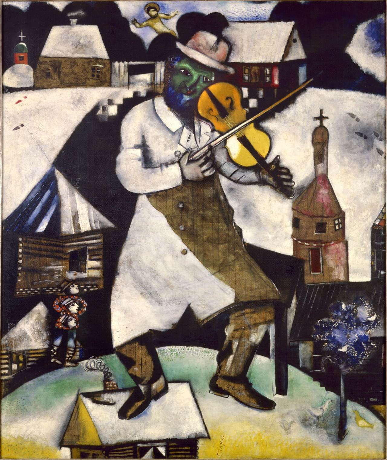 Marc Chagall, 1912,  The Fiddler , an inspiration for the musical   Fiddler on the Roof