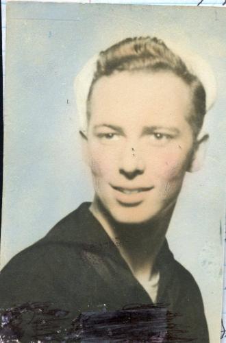 Pat Rutherford 1945 in his Merchant Marine Uniform