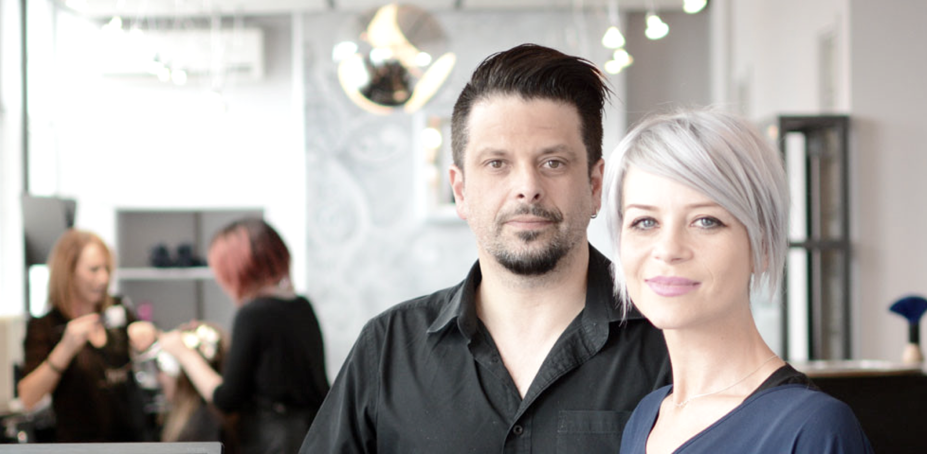 Karl and Danelle Radel, salon owners.