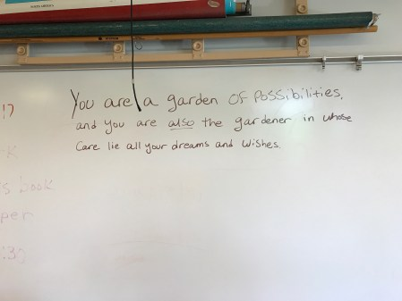 On a whim, I came up with this quote at the end of a yearlong poetry time capsule project with students this past year. The more I look at it, the more I believe in it.