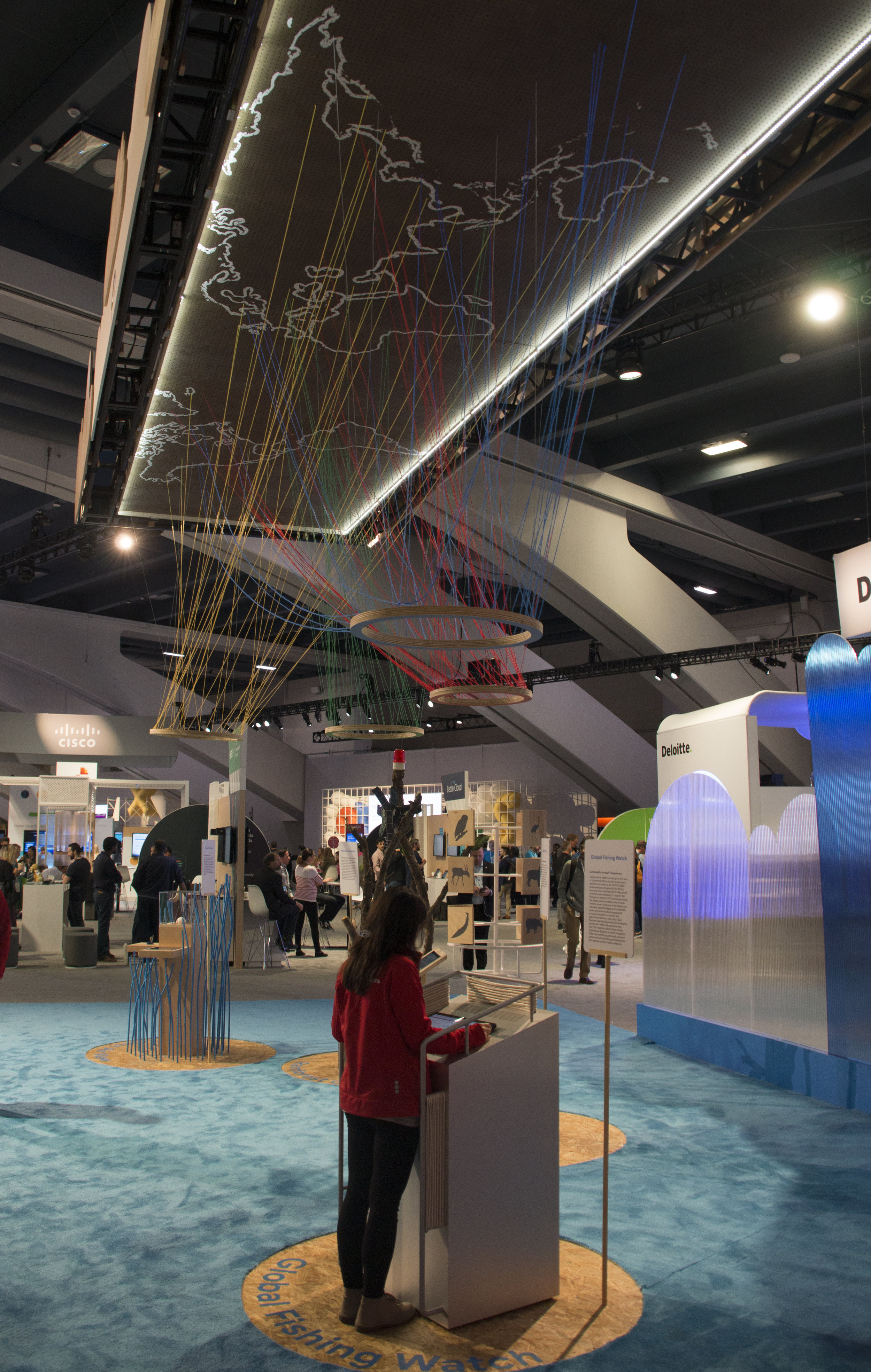 Global Change Space exhibit at Google Cloud/Next 2018