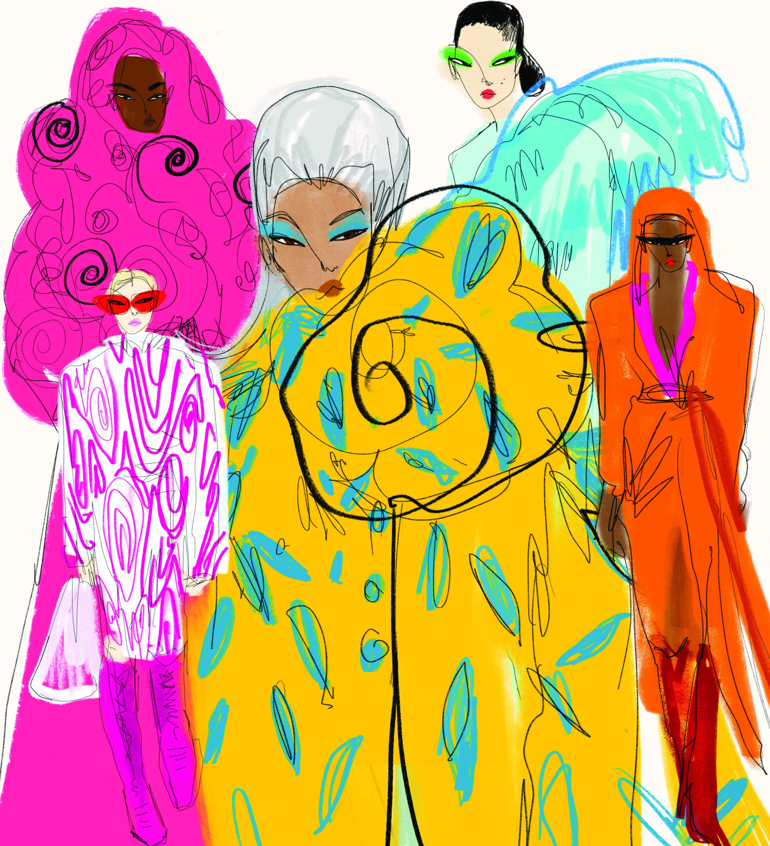 Fashion Forward - Illustrations by ANJELICA ROSELYN