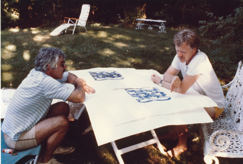 Kenneth Tyler with artist Robert Zakanitch. Courtesy Tyler Graphics