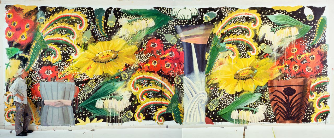 Big Bungalow Suite 1, 1990-93 Acrylic on canvas, 11 x 30 ft. Collection of the artist