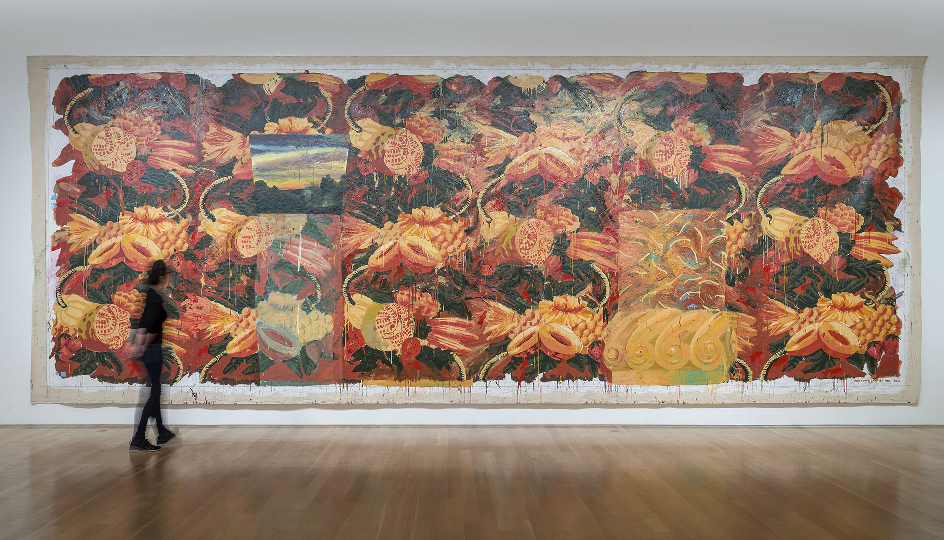 Big Bungalow Suite III , 1991-92, Acrylic on canvas, 11 x 30 ft. Collection of the Artist. (Installation View: The Nerman Museum of Contemporary Art, OverlandPark, KS, 2015