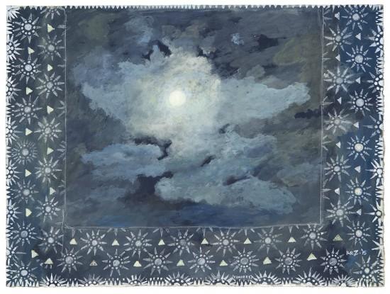 """Robert Zakanitch, """"The Opal Mist, 2015, gouache on paper, 18 x 24 in. (45.7 x 61 cm)"""