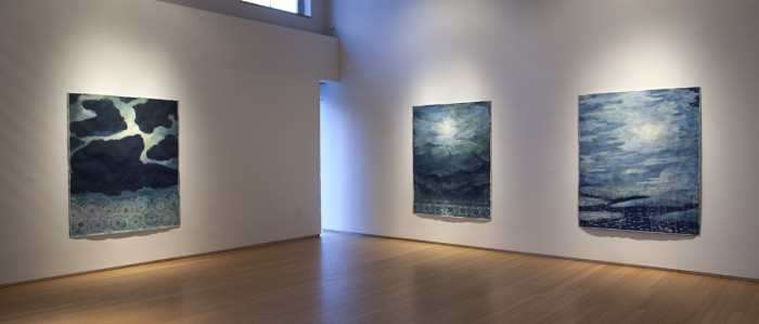 "Installation: Robert Zakanitch ""Garden of the Moon"" at Nancy Hoffman Gallery, new York"