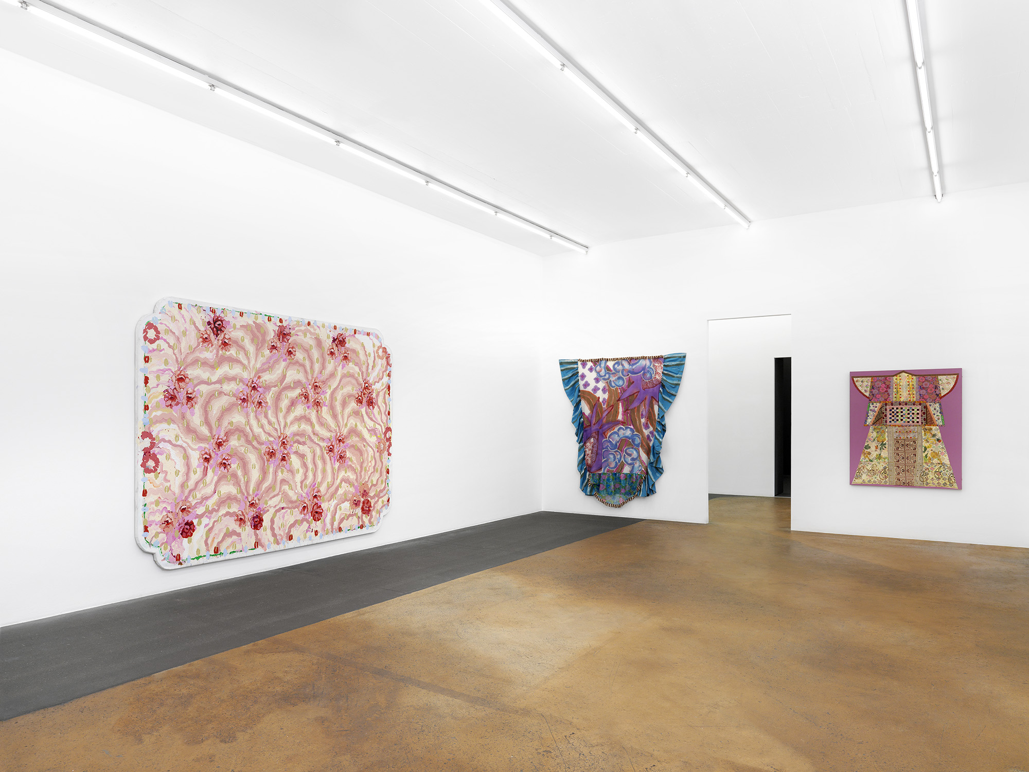 "Install View at MAMCO featuring ""Elephant Rose"" by Robert Zakantich (left). Photo: Annik Wetter"