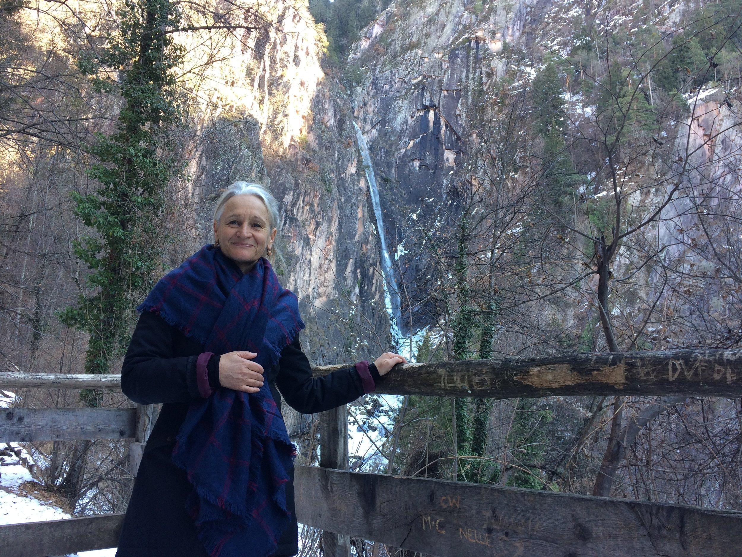 Monika basking in the Pristine Natural Wilderness near Merano, Italy