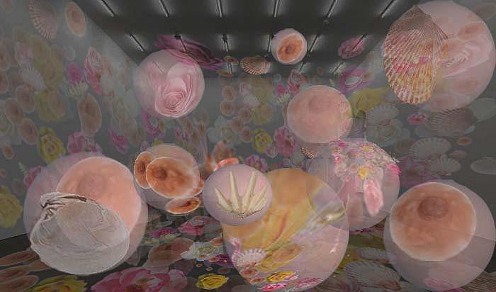 still life_ Video proyectado sobre globos en salon .jpg