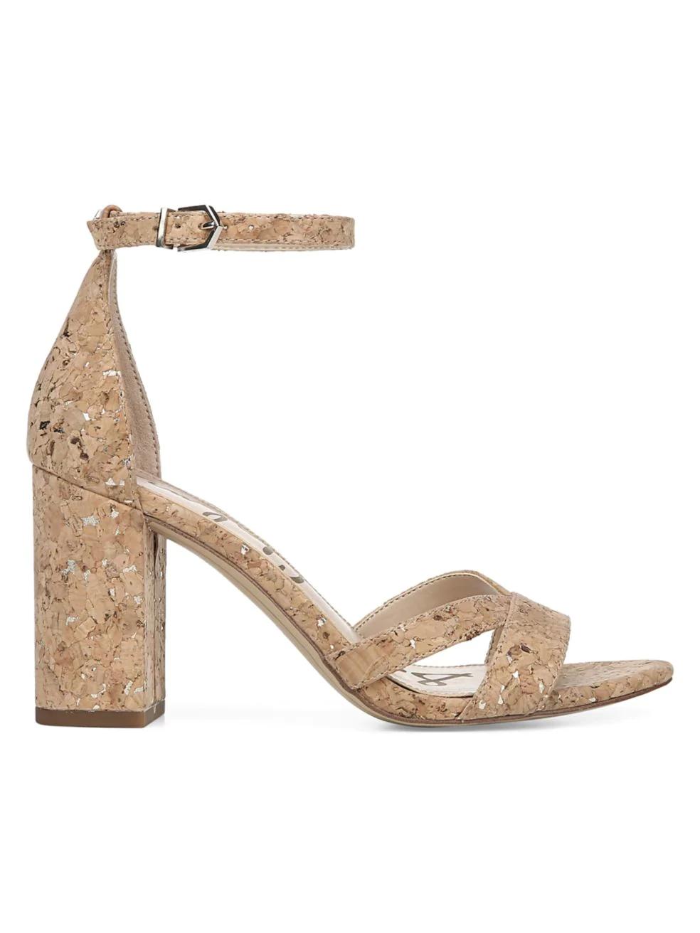 sam edelman. omar NEUTRAL cork heels sandals