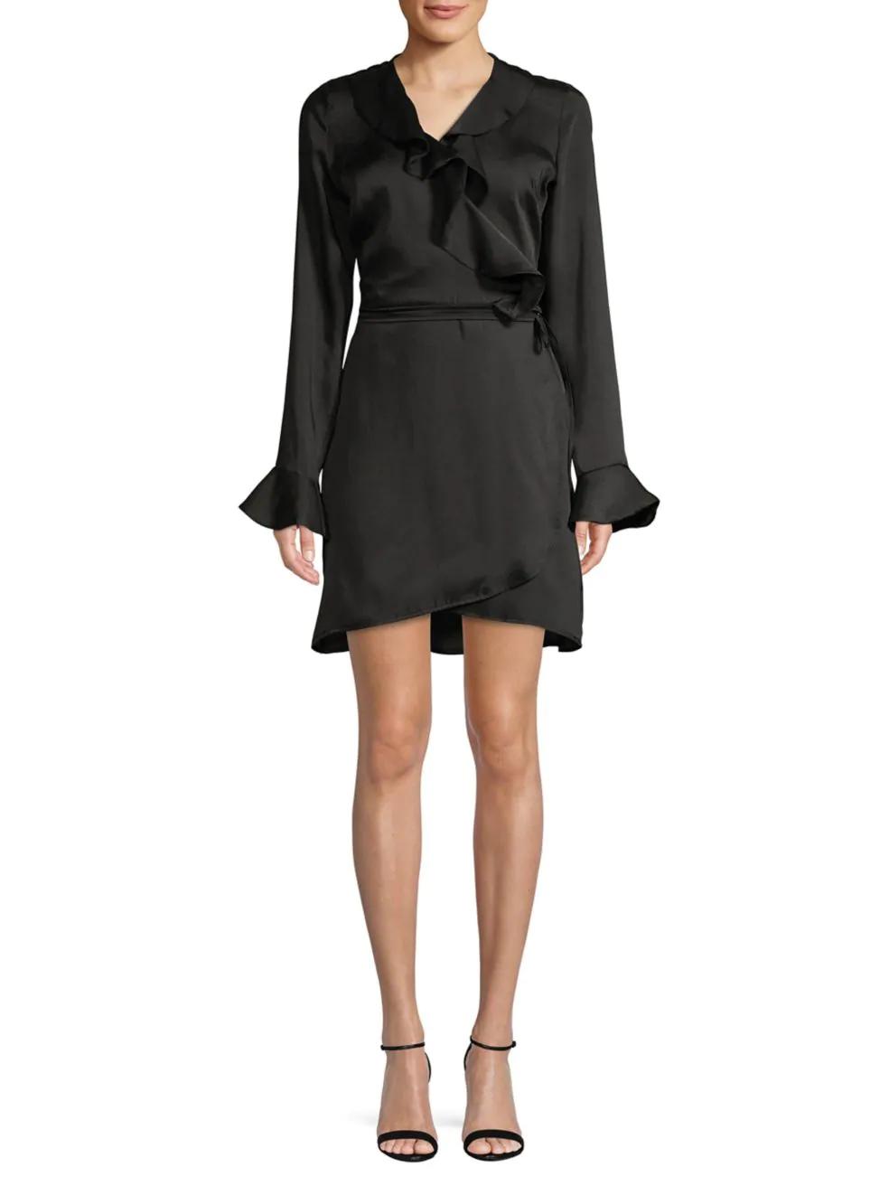 SFW. Long Sleeved Wrap Dress