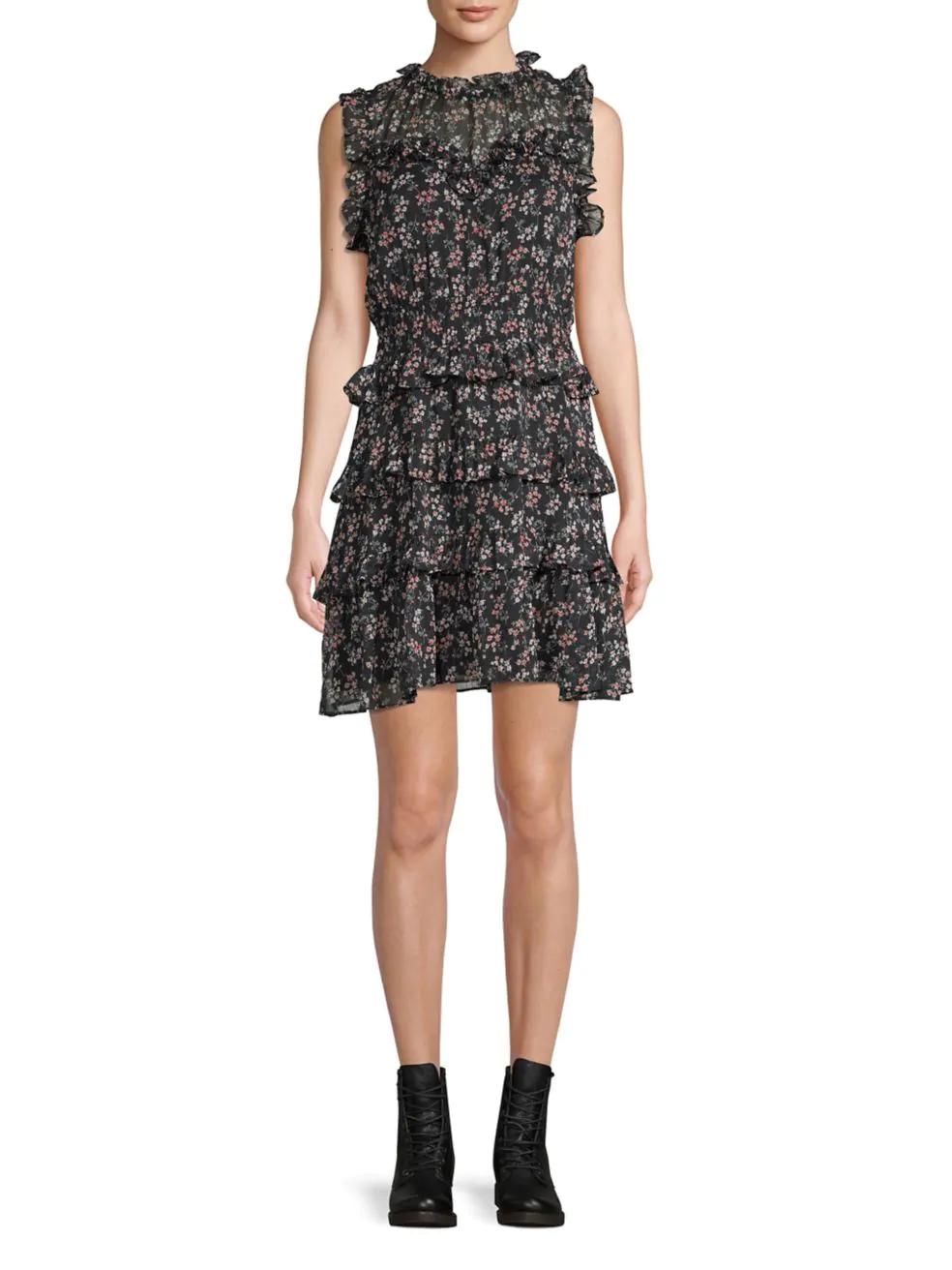 DESIGN LAB LORD & TAYLOR. Floral A-Line Dress.