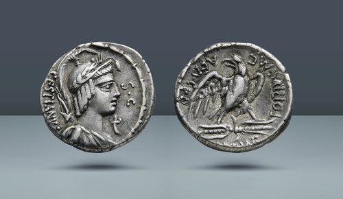 M. Plaetorius Mf Cestianus.  Roma, MÖ 67