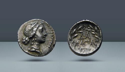 Achaia, Patrai.  Agesilaus'un oğlu Damasias, sulh hakimi.  Mark Antony ve Cleopatra VII ile çağdaş.  c.  MÖ 35