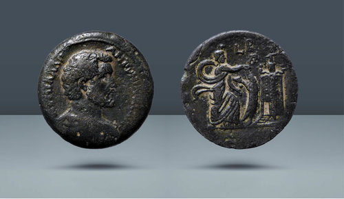 Mısır, İskenderiye.  Antoninus Pius.  138-161 AD.  Tarihli RY 2 = AD 138/9