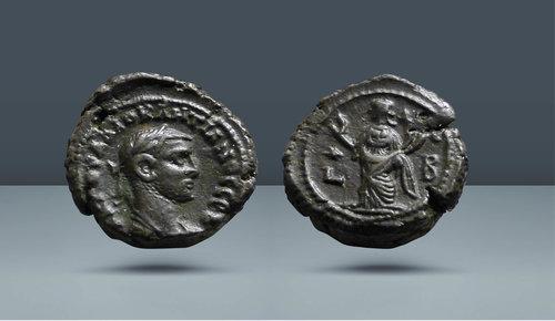 Diocletian.  MS 284-305.  İskenderiye, Mısır, yak.  MS 285/6 (2. yıl)