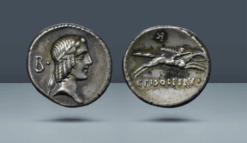 Roma Cumhuriyeti.  C. Calpurnius Piso L. f.  Frugi.  Roma, c.  MÖ 67