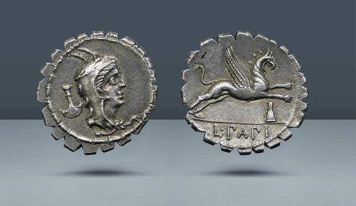 Roma Cumhuriyeti.  L. Papius.  Roma, c.  MÖ 79
