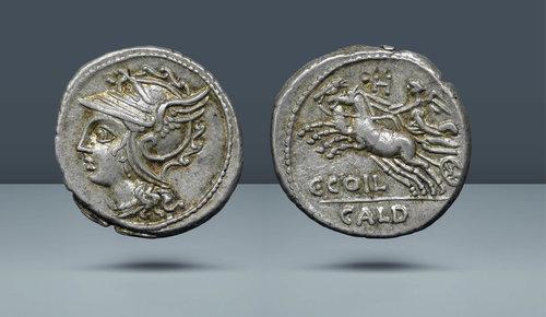 Roma Cumhuriyeti.  C. Coelius Caldus.  Roma, MÖ 104